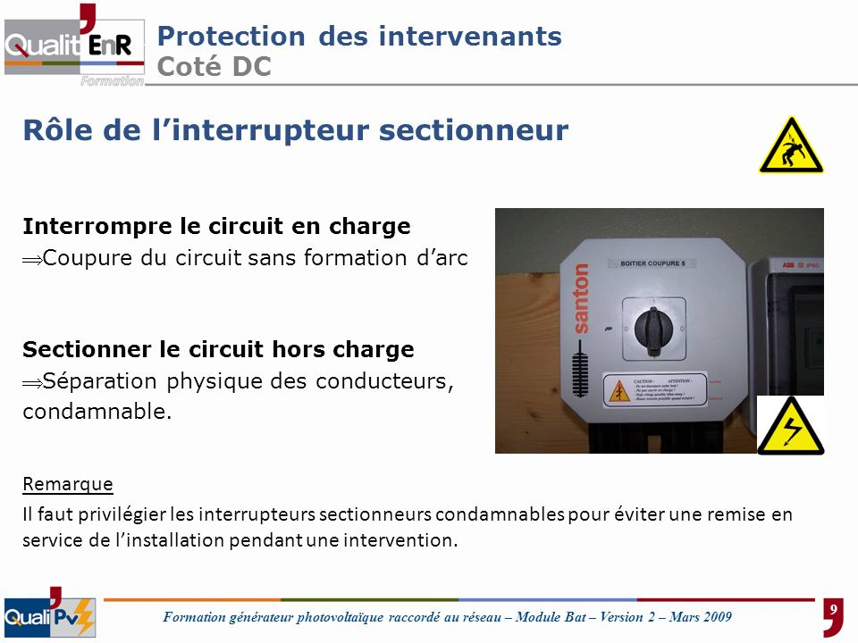 Protection des intervenants Coté DC