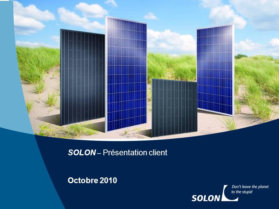 SOLON – Présentation client
