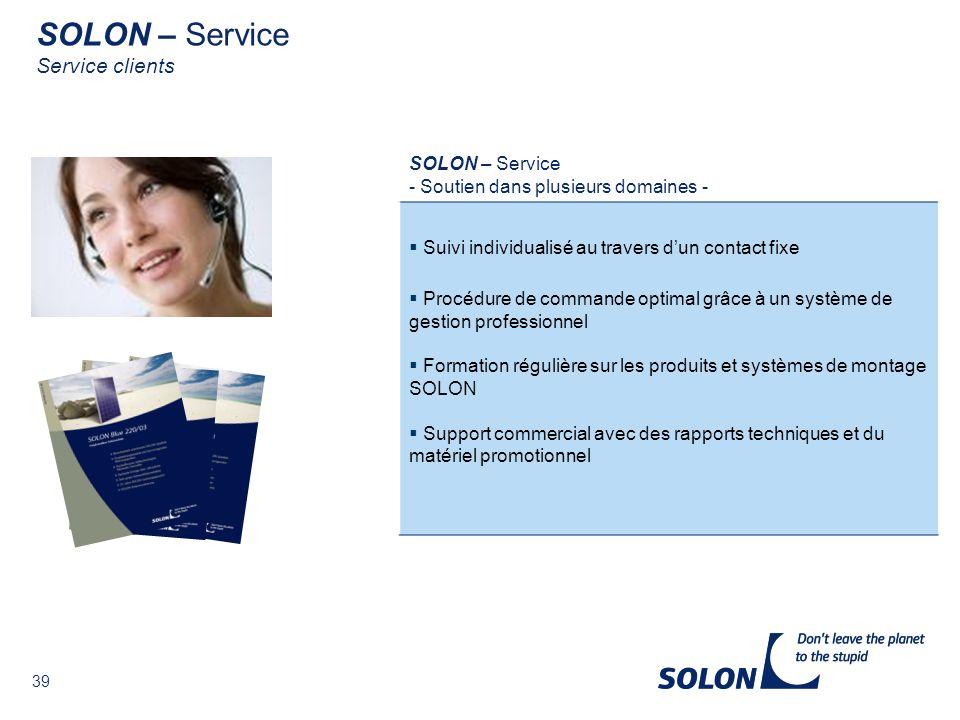 SOLON – Service Service clients