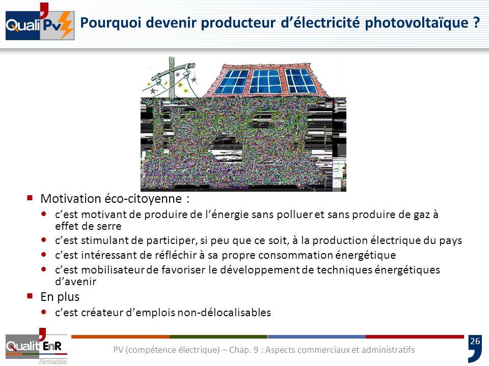 Pourquoi devenir producteur d'électricité photovoltaïque