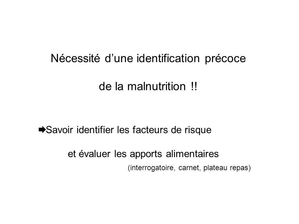 Nécessité d'une identification précoce