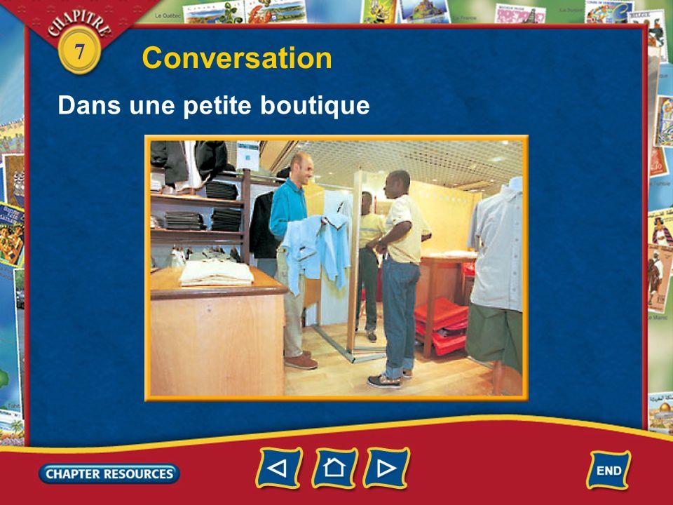 Conversation Dans une petite boutique