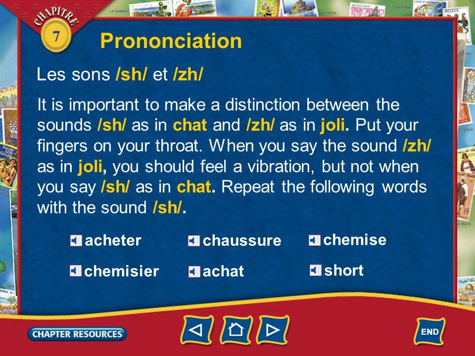 Prononciation Les sons /sh/ et /zh/
