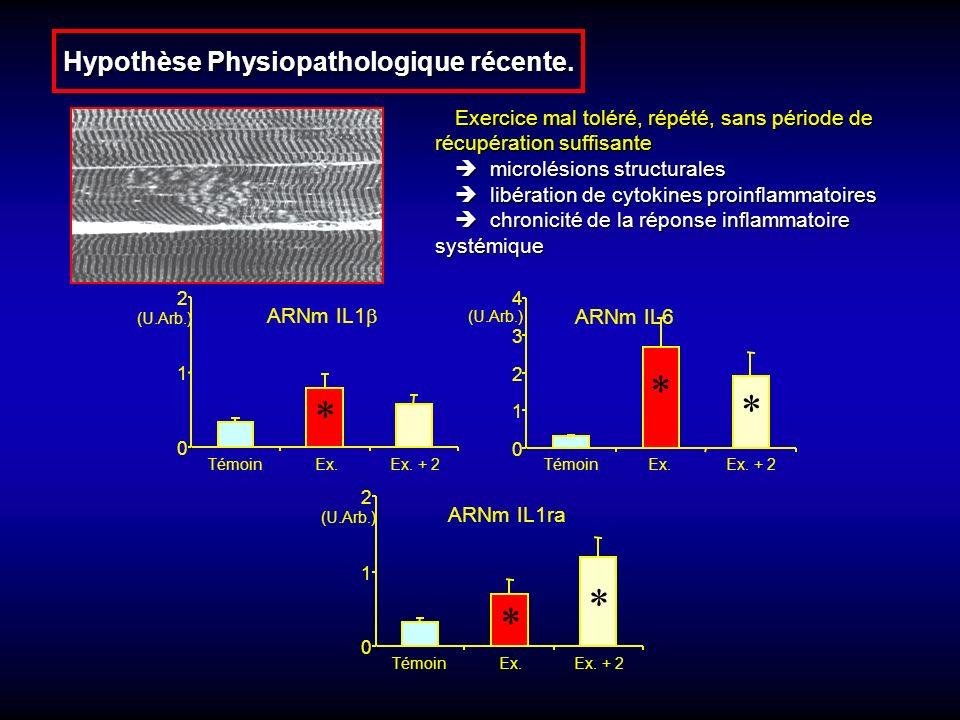 Hypothèse Physiopathologique récente.