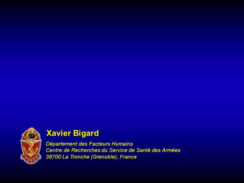 Xavier Bigard Département des Facteurs Humains