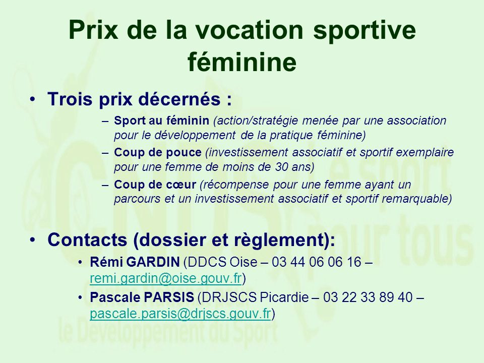Prix de la vocation sportive féminine