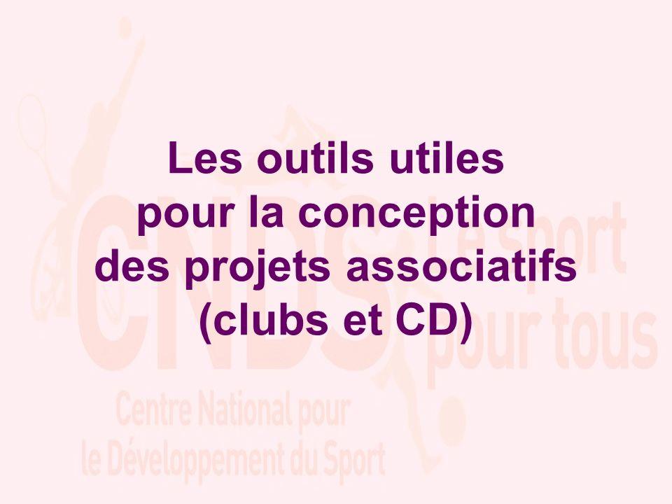 Les outils utiles pour la conception des projets associatifs (clubs et CD)