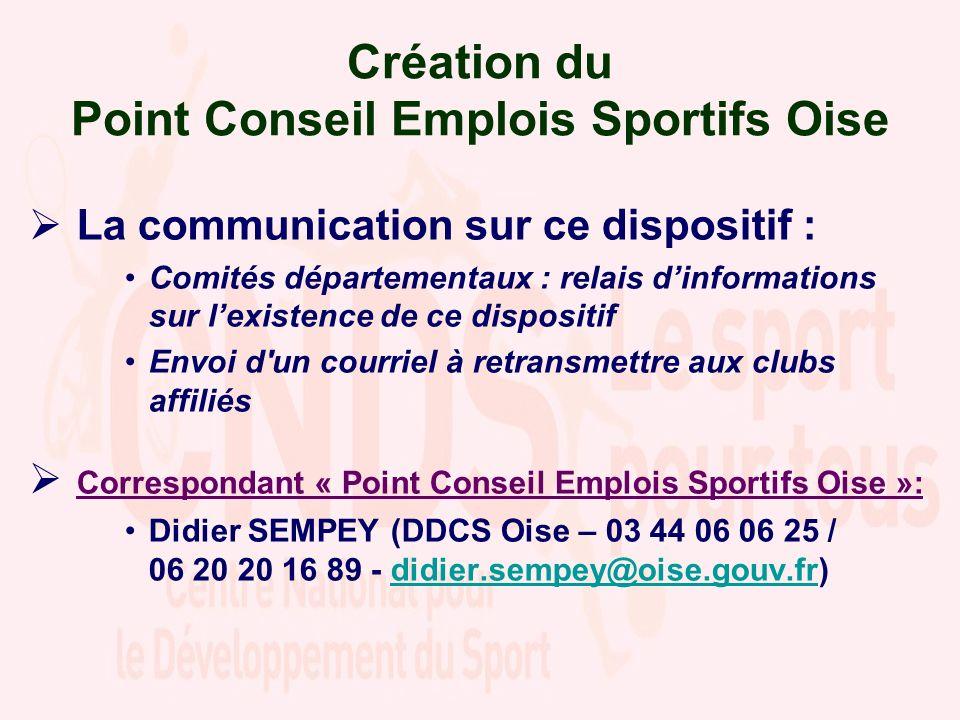 Création du Point Conseil Emplois Sportifs Oise