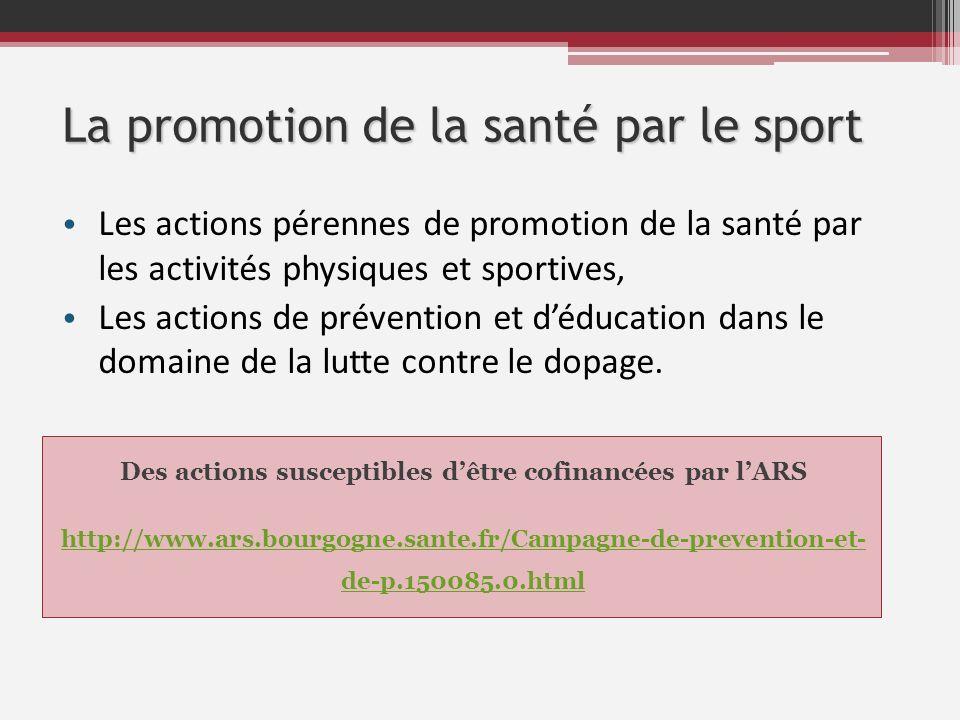 La promotion de la santé par le sport