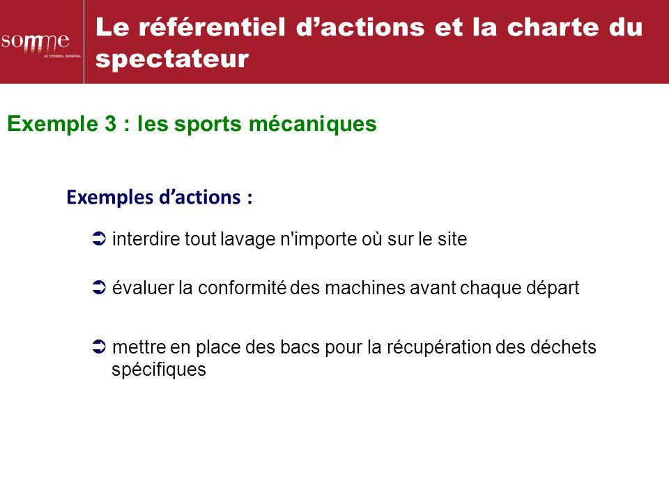 Exemple 3 : les sports mécaniques