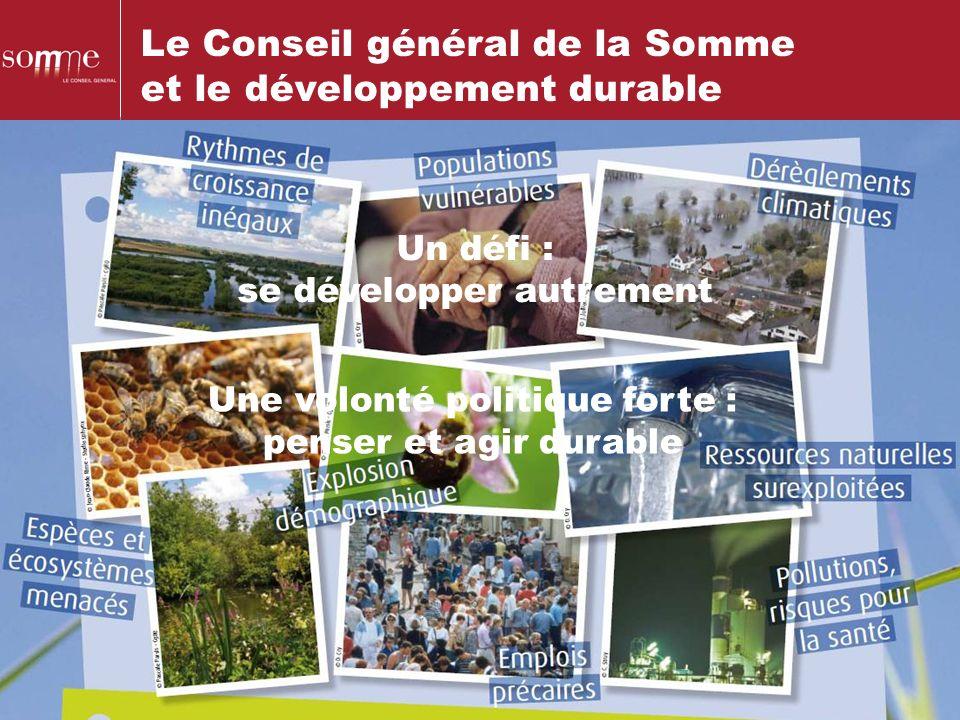 Le Conseil général de la Somme et le développement durable