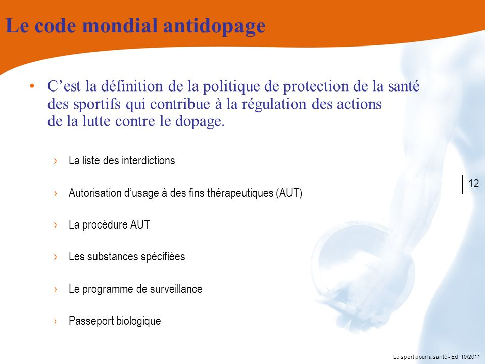 Le code mondial antidopage