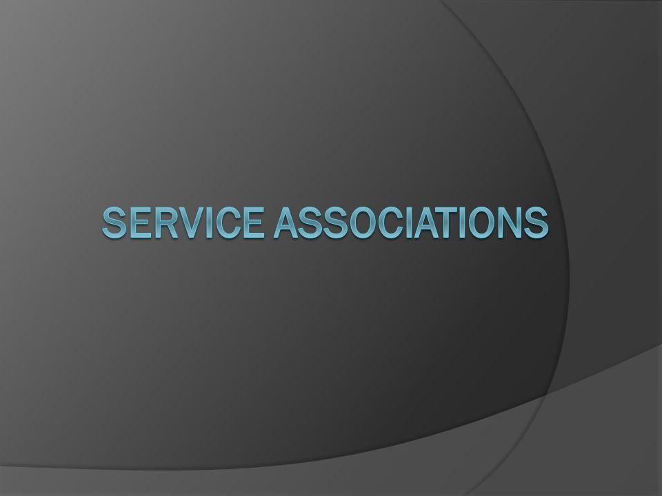 SERVICE ASSOCIATIONS