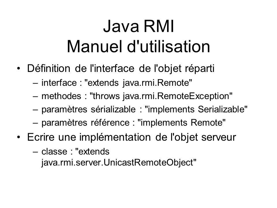 Java RMI Manuel d utilisation