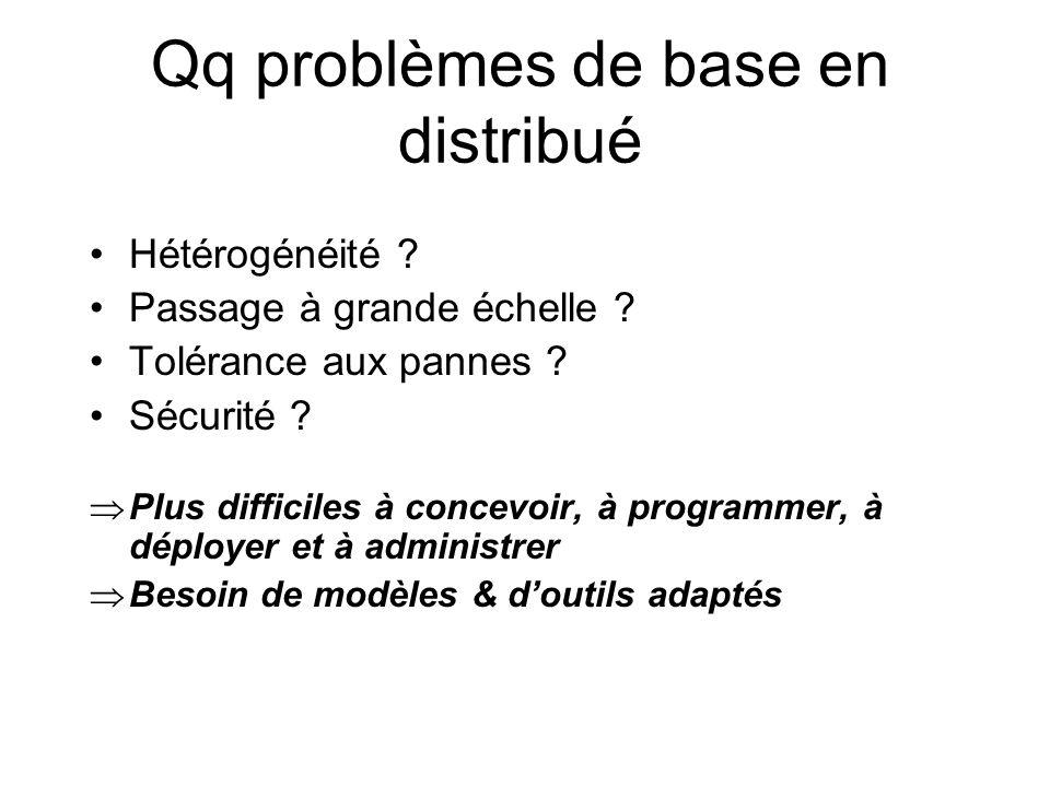 Qq problèmes de base en distribué