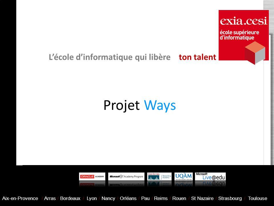 Projet Ways L'école d'informatique qui libère ton talent
