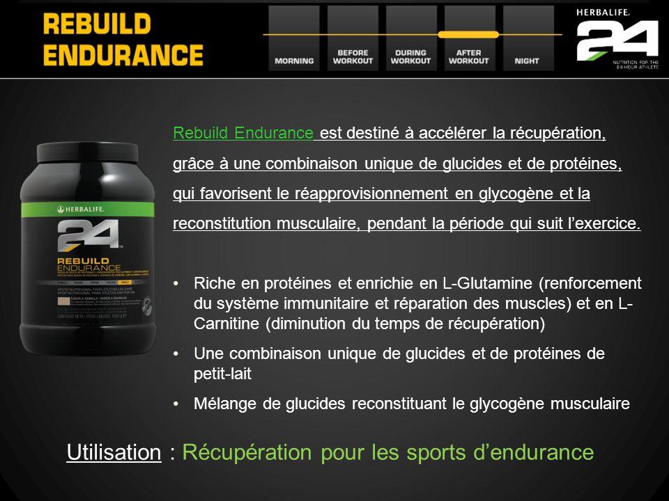 Utilisation : Récupération pour les sports d'endurance