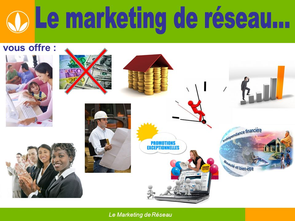 Le marketing de réseau…