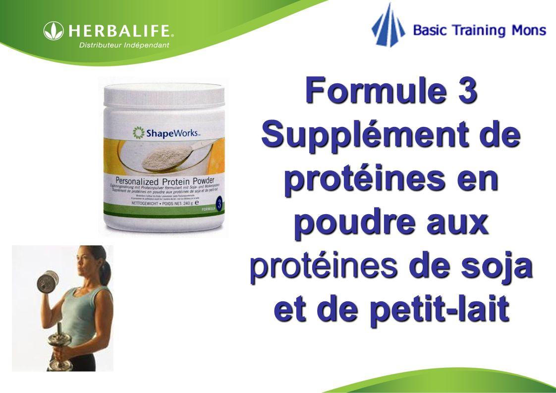 Formule 3 Supplément de protéines en poudre aux protéines de soja et de petit-lait
