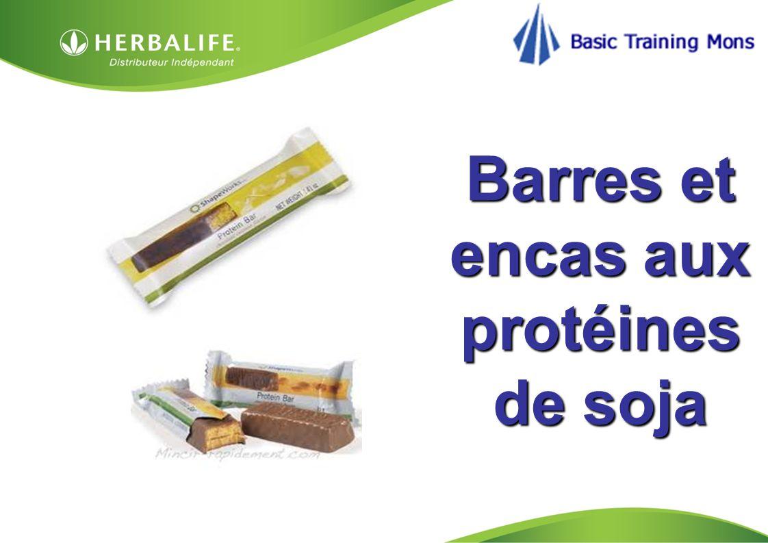 Barres et encas aux protéines de soja
