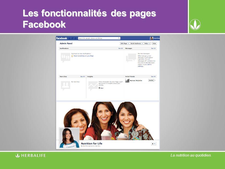 Les fonctionnalités des pages Facebook