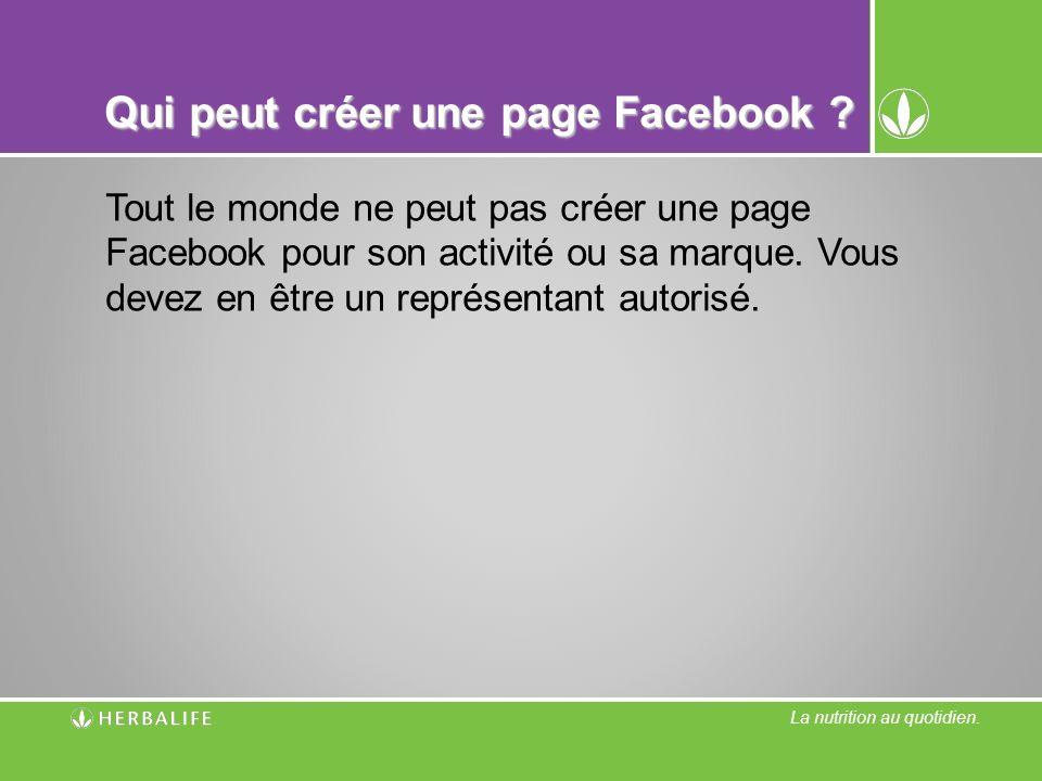 Qui peut créer une page Facebook