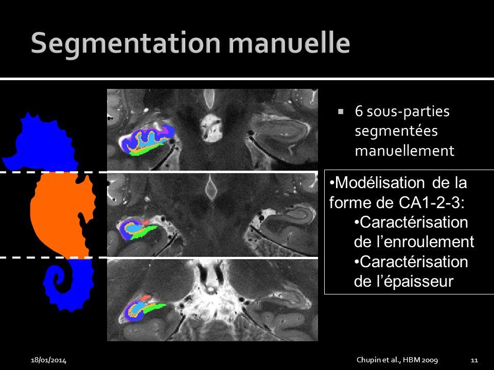 Segmentation manuelle