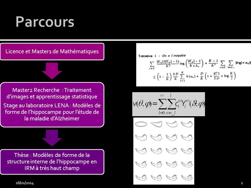 Parcours 26/03/2017 Licence et Master1 de Mathématiques