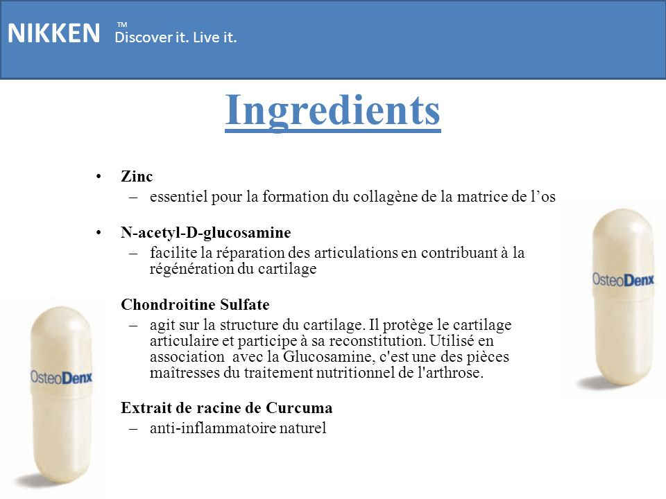 Ingredients NIKKEN Discover it. Live it. Zinc