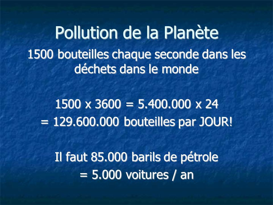 Pollution de la Planète