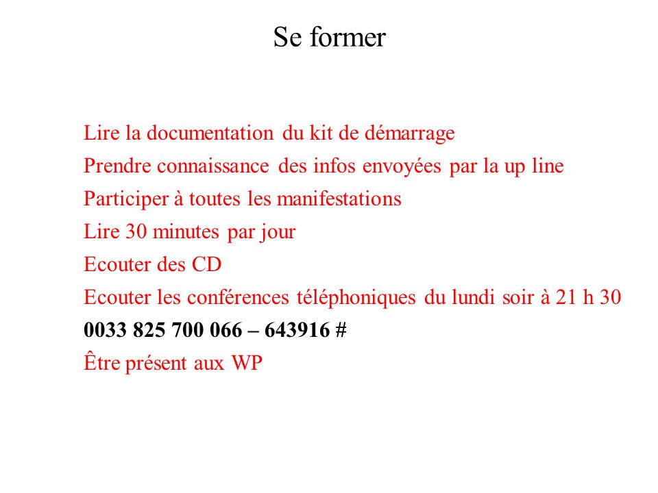 Se former Lire la documentation du kit de démarrage