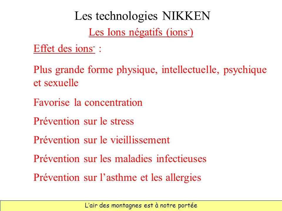 Les technologies NIKKEN