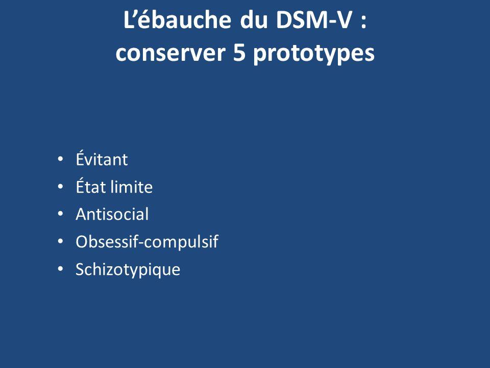 L'ébauche du DSM-V : conserver 5 prototypes