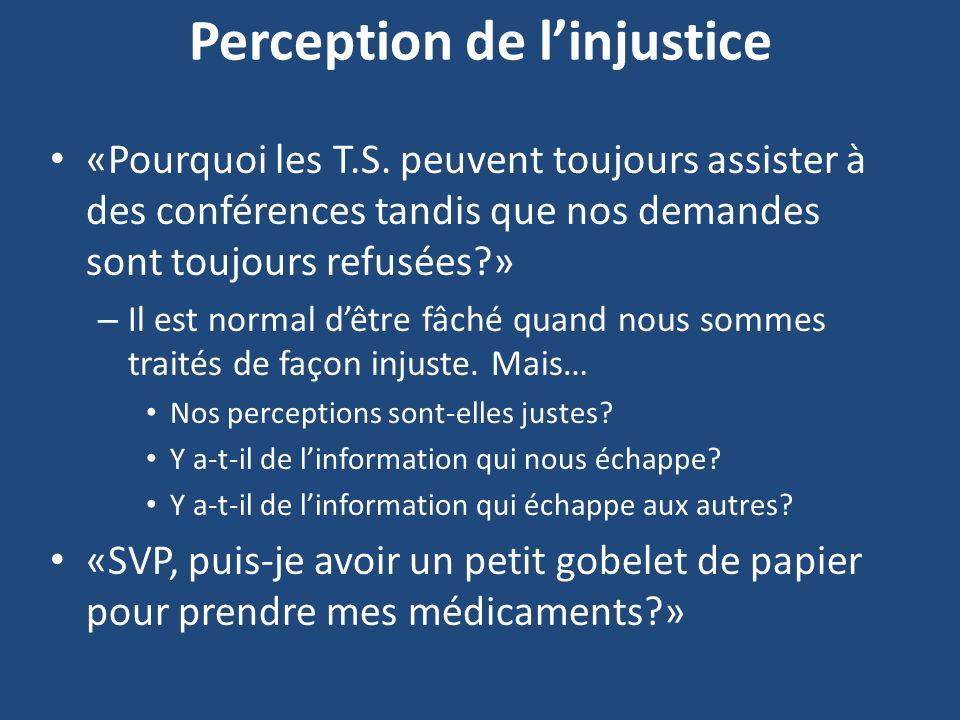 Perception de l'injustice