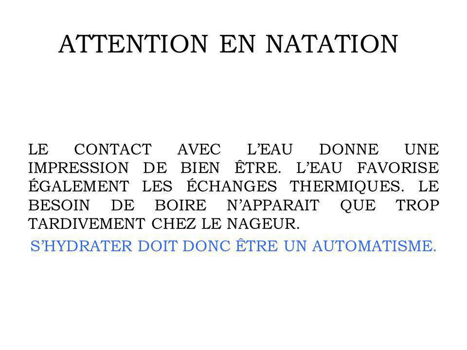 ATTENTION EN NATATION
