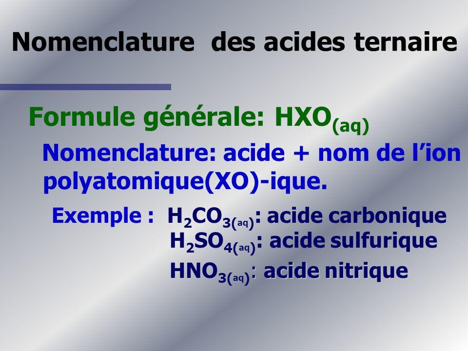 Nomenclature des acides ternaire
