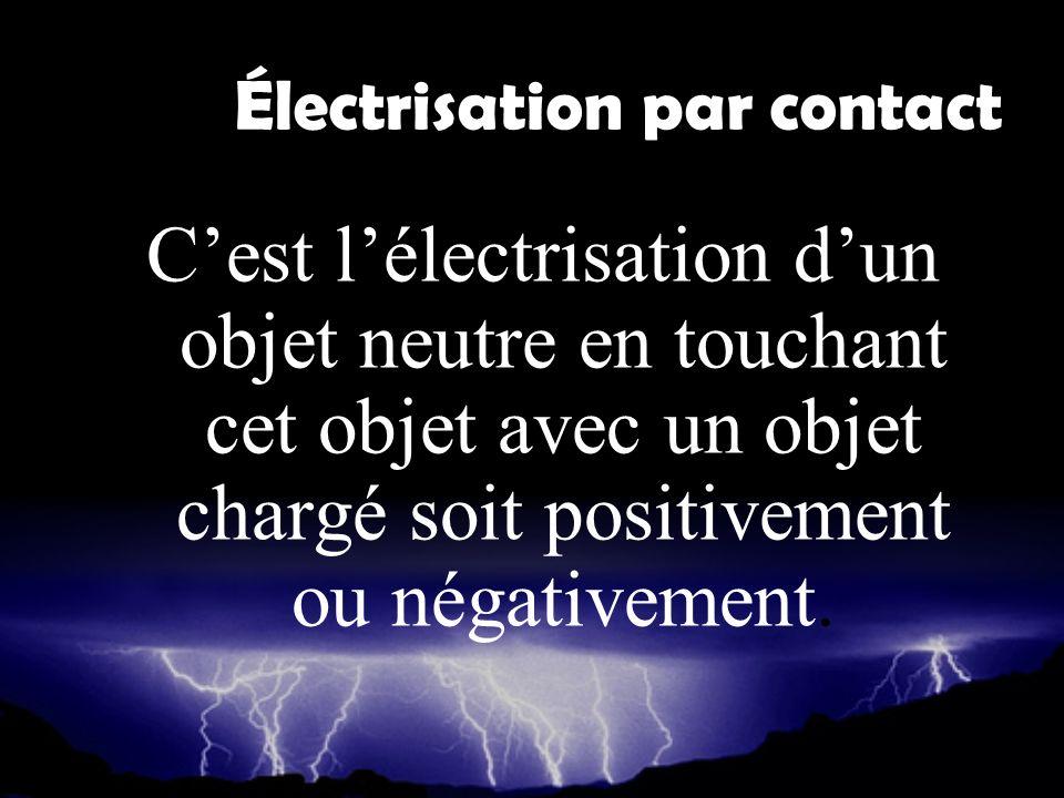 Électrisation par contact