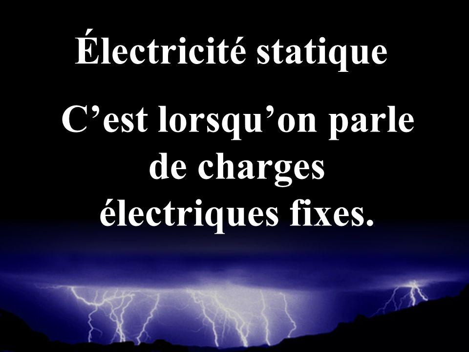 C'est lorsqu'on parle de charges électriques fixes.
