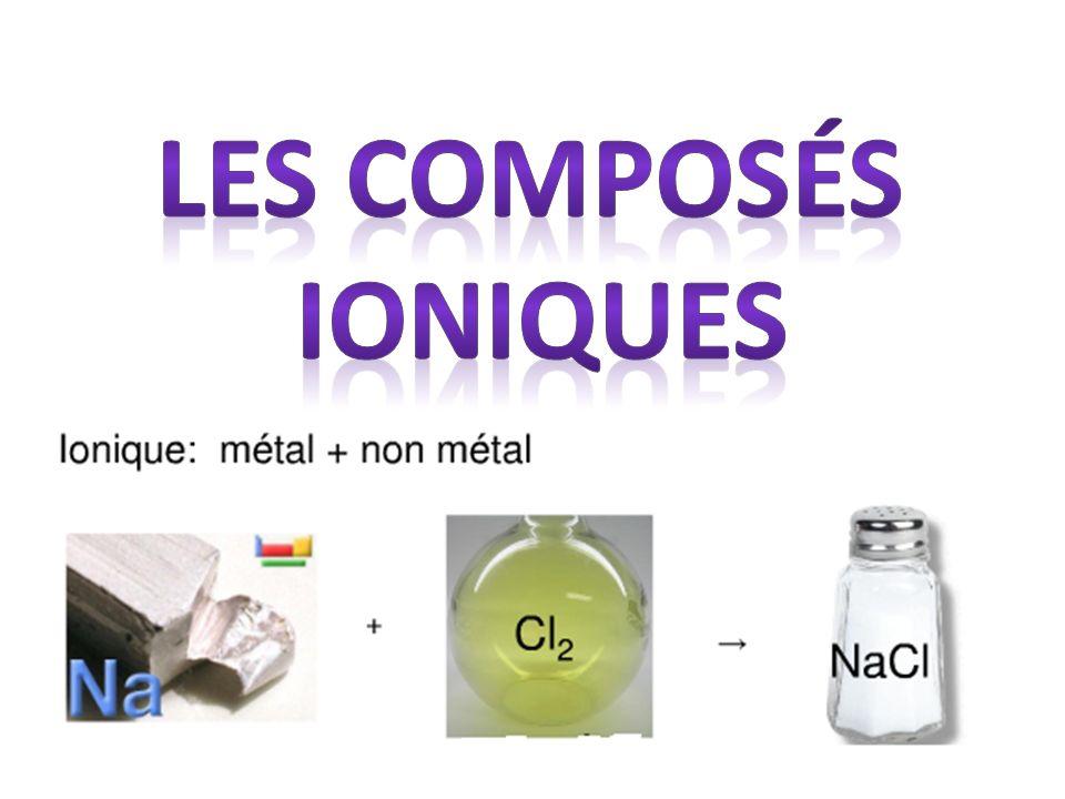 Les composés ioniques