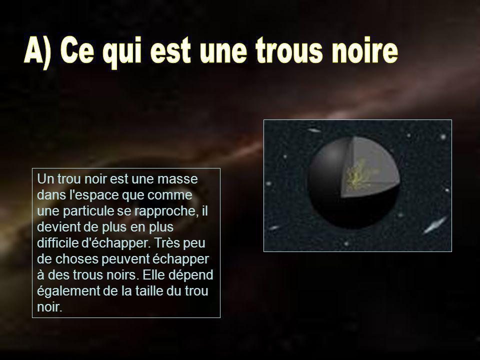 A) Ce qui est une trous noire