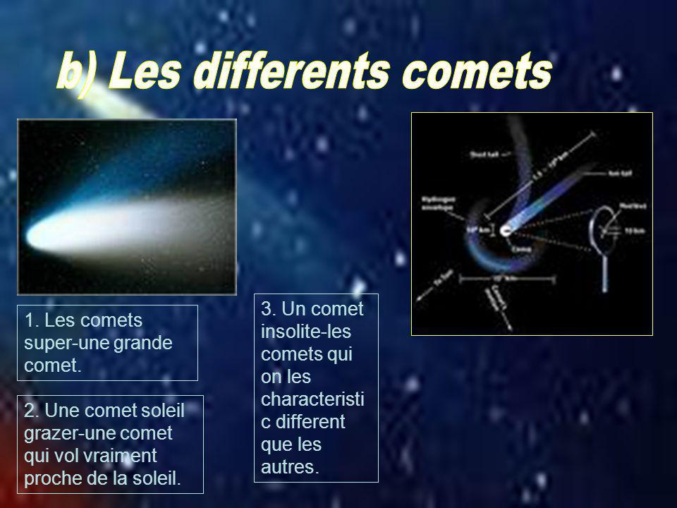 b) Les differents comets