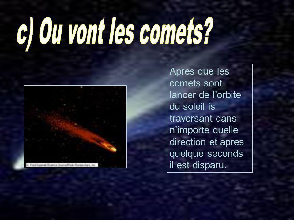 c) Ou vont les comets