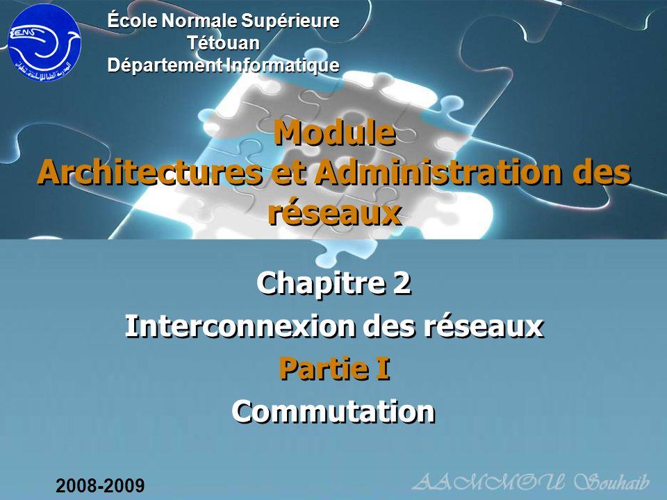 Module Architectures et Administration des réseaux