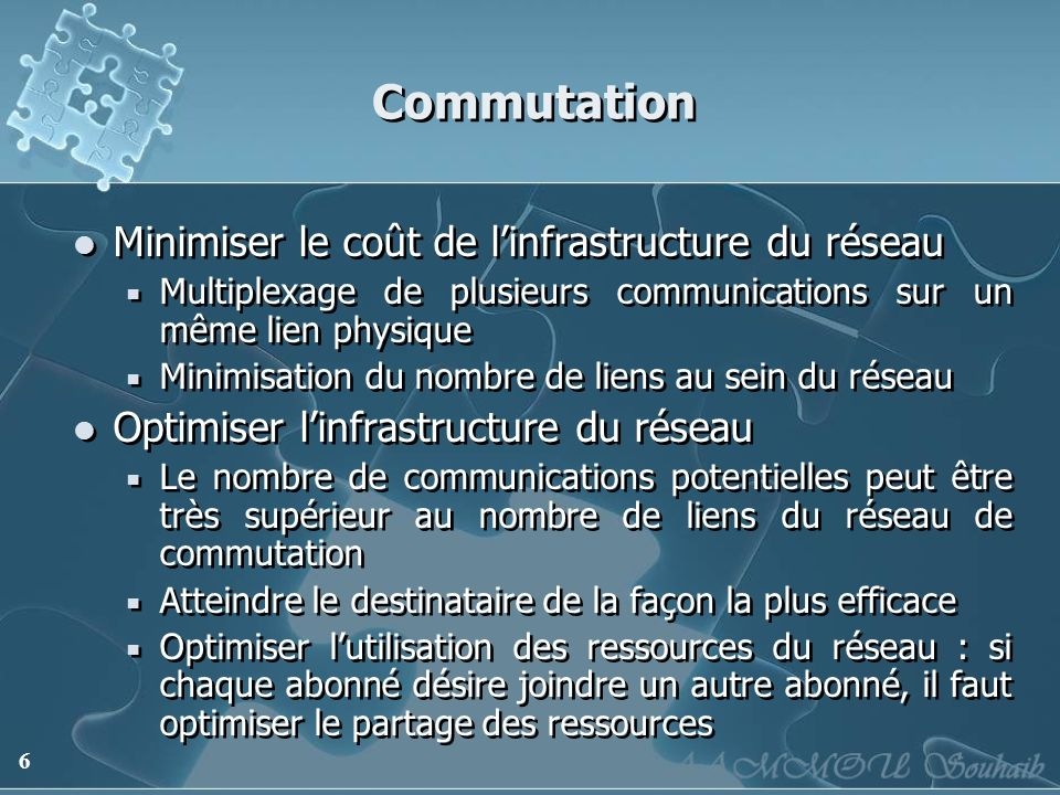 Commutation Minimiser le coût de l'infrastructure du réseau