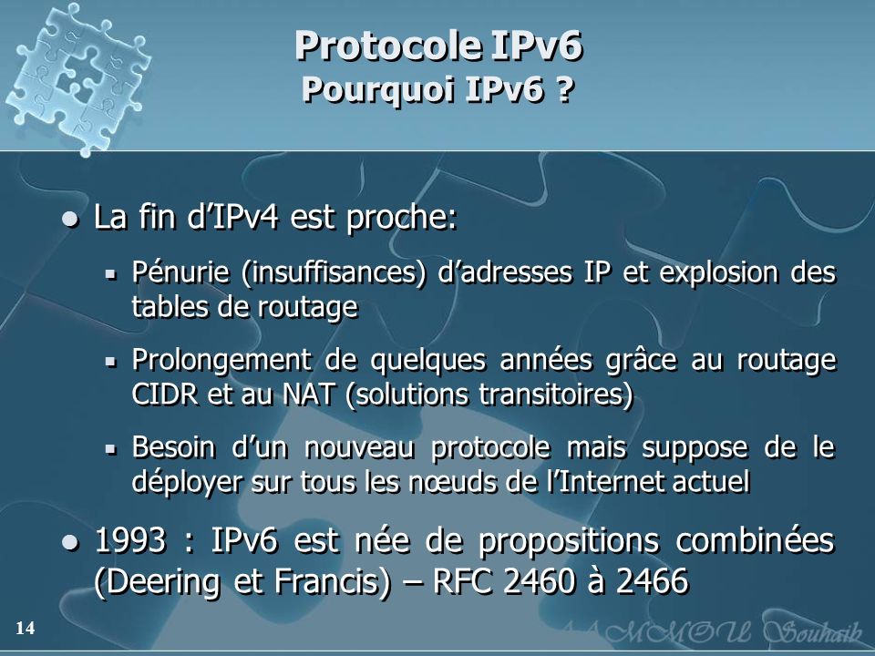 Protocole IPv6 Pourquoi IPv6