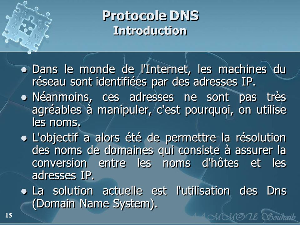 Protocole DNS Introduction