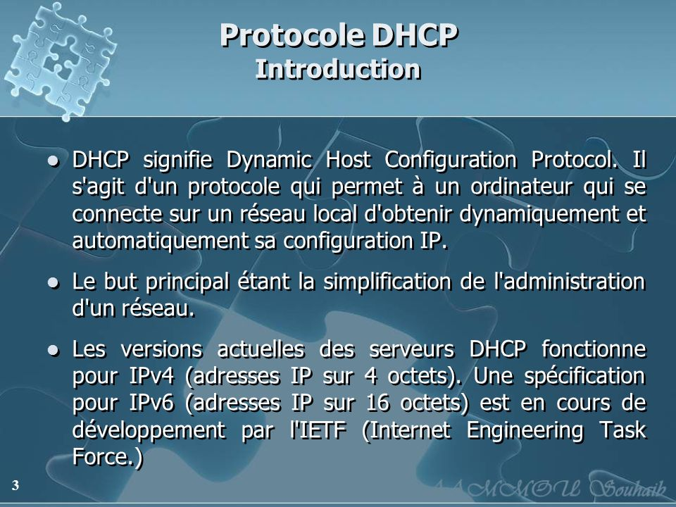 Protocole DHCP Introduction