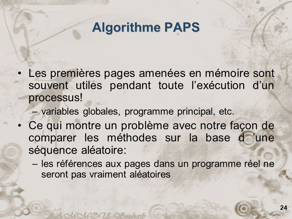 algorithme associé à ce programme de calcul