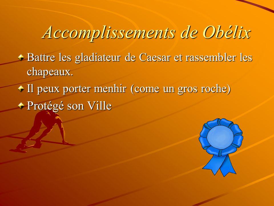 Accomplissements de Obélix