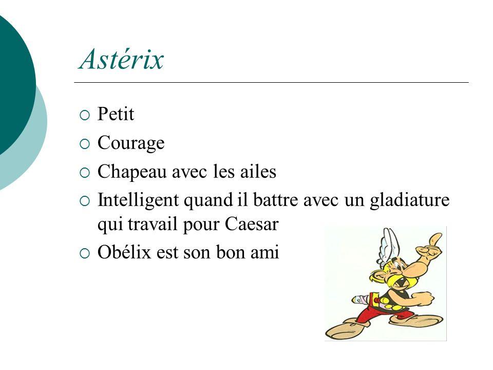 Astérix Petit Courage Chapeau avec les ailes